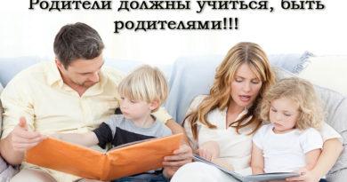 Родители должны учиться, быть родителями
